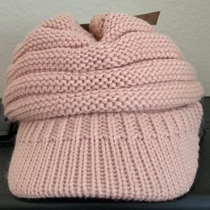 CC Indi Pink Brimmed Beanie